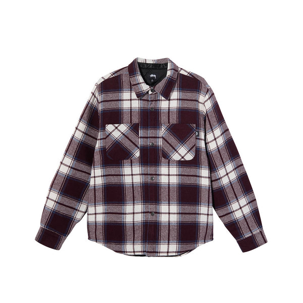 Stussy Mens Max Plaid Quilted Shirt