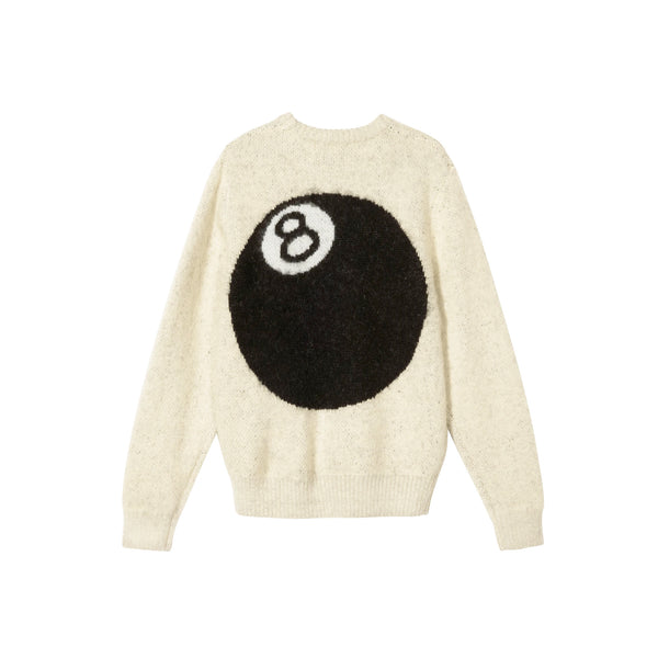 Stussy Mens 8 Ball Heavy Brushed Mohair Sweater