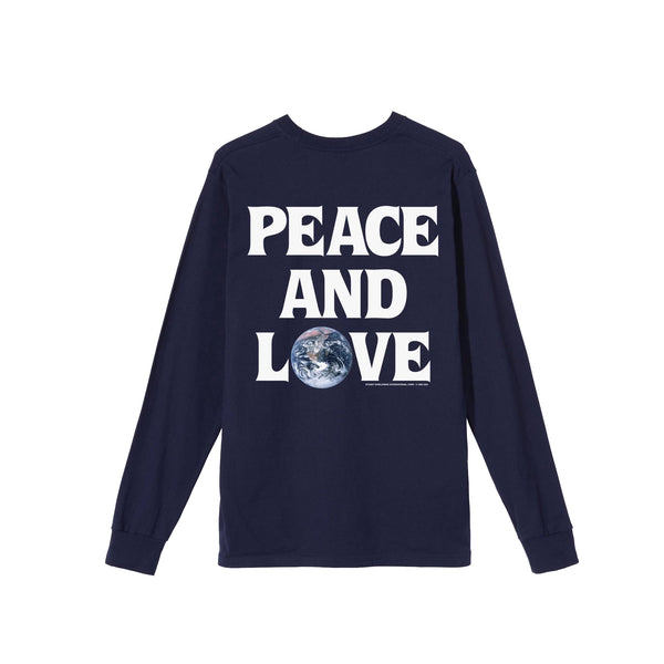 Stussy Mens Peace & Love LS Tee