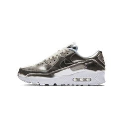 Nike Womens Air Max 90 SP Silver Metallic Pack Shoes