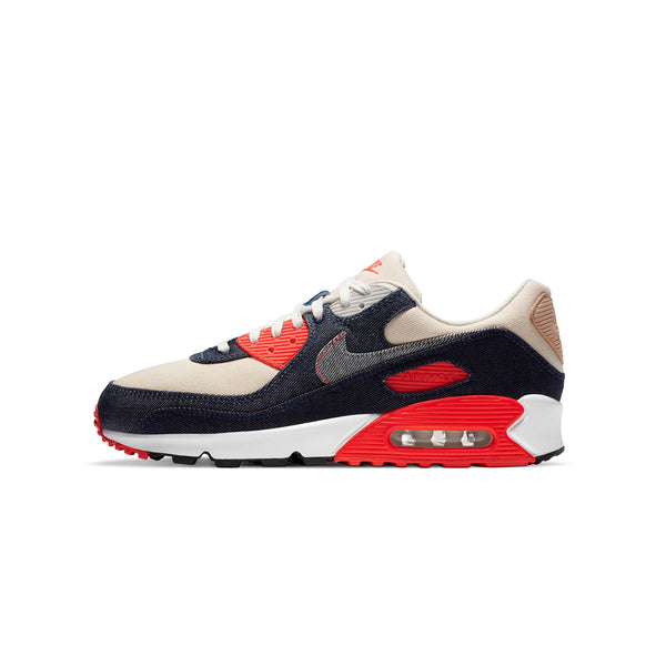 Nike Mens Air Max 90 x Denham 'Infrared' Shoes