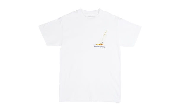 Crusoe & Sons Sail T-Shirt (CS-SU19-04-WHT)