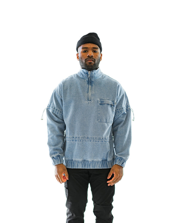 Men's Christopher Shannon Denim Zip-Up (CS-SWEAT01B)