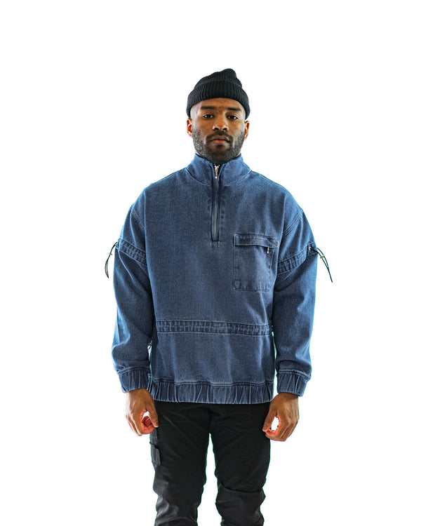 Men's Christopher Shannon Denim Zip-Up (CS-SWEAT01A)