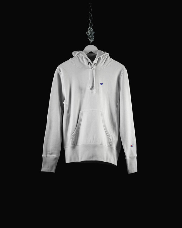 Men's Champion Reverse Weave French Terry Hoodie (CEM966-WHT)
