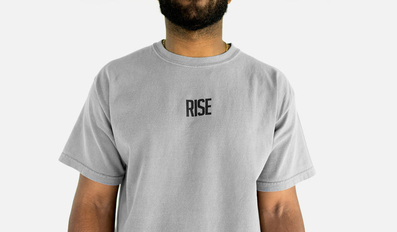 "RISE ""OTC"" heavyweight tee (smoke grey) (RISE_OTC)"