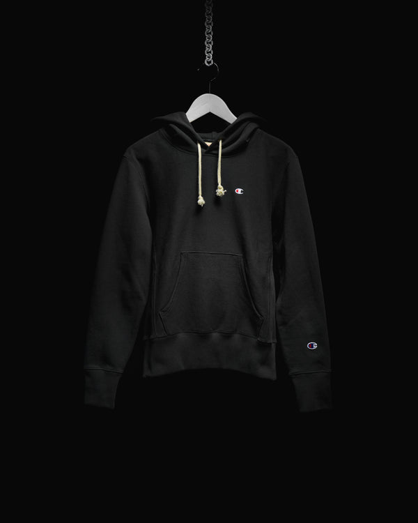 Men's Champion Reverse Weave French Terry Hoodie (CEM966-BLK)