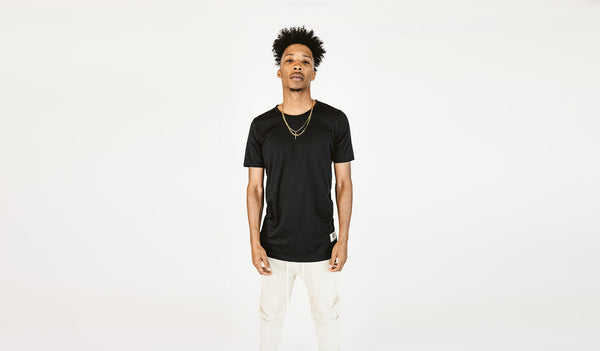 RISE 50/50 blend layer tee (black) (RISE_LAYER-BLK)