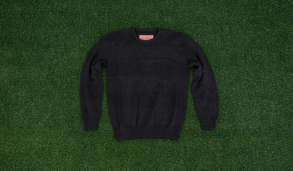 Zanerobe Philly Knit Sweatshirt (Black)