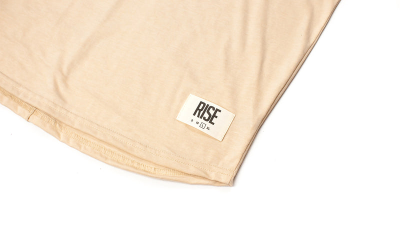 RISE 50/50 blend layer tee (champagne) (RISE_LAYER-CHAMP)