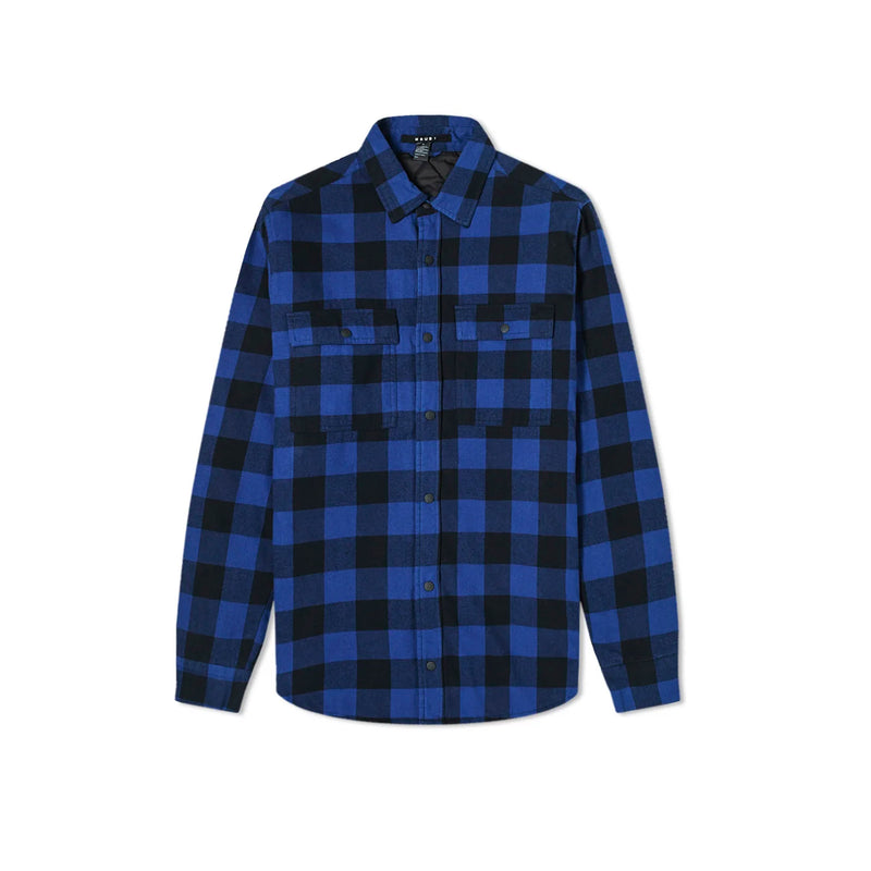 KSUBI Mens Dub Plaid Shirt