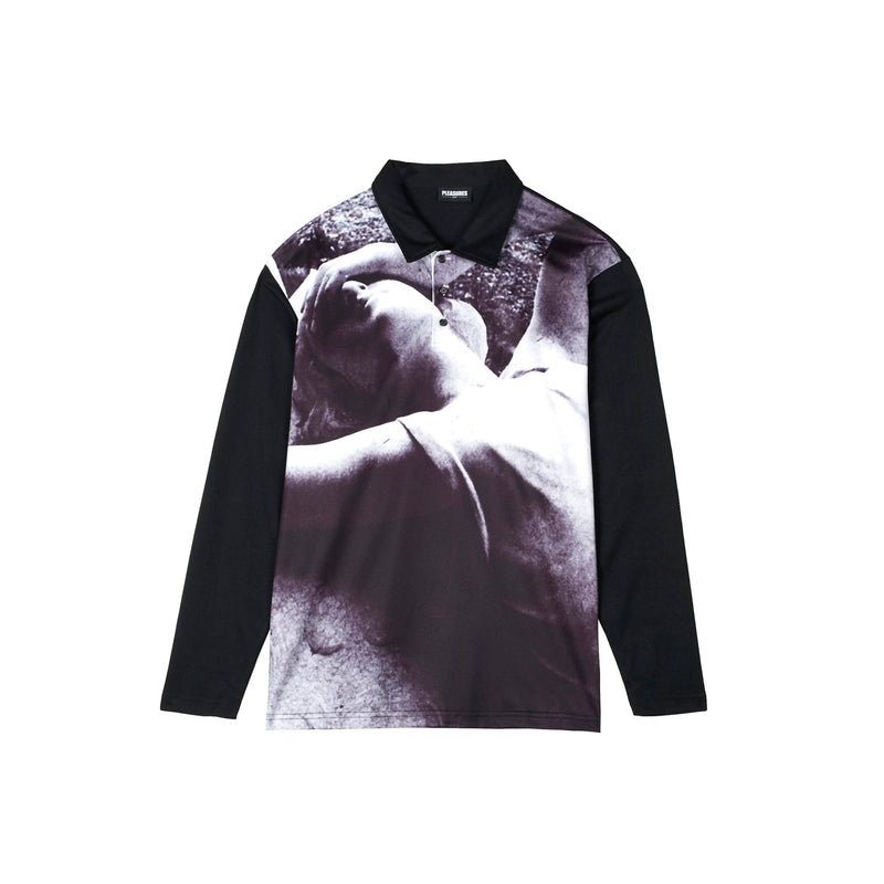 Pleasures Mens Apart L/S Polo Shirt