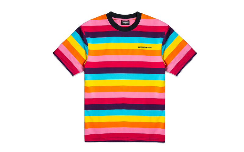 PLEASURES Inbox Striped T-Shirt (P19S109006-BRI)