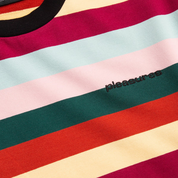 PLEASURES Inbox Striped T-Shirt (P19S109006)