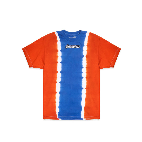 Pleasures Mens Gum Logo Split Tie Dye Tee