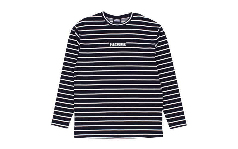 Pleasures Vortex LS Striped Top