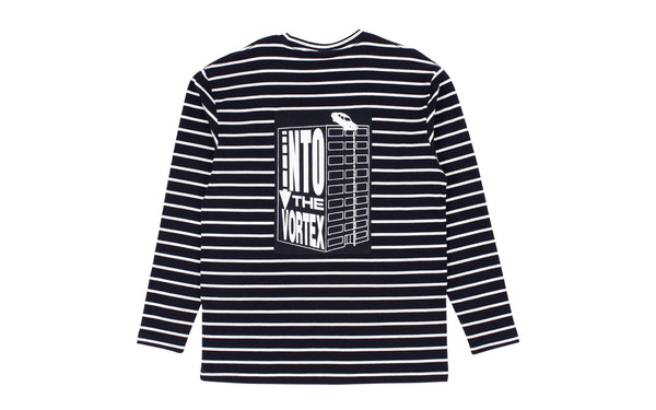 PLEASURES VORTEX LONG SLEEVE STRIPED SHIRT (L19F109004)