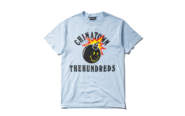 The Hundreds x Chinatown Market Happy Adam SS Tee (L18W201033-PBLU)