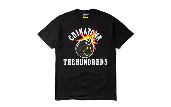 The Hundreds x Chinatown Market Happy Adam SS Tee (L18W201033-BLK)