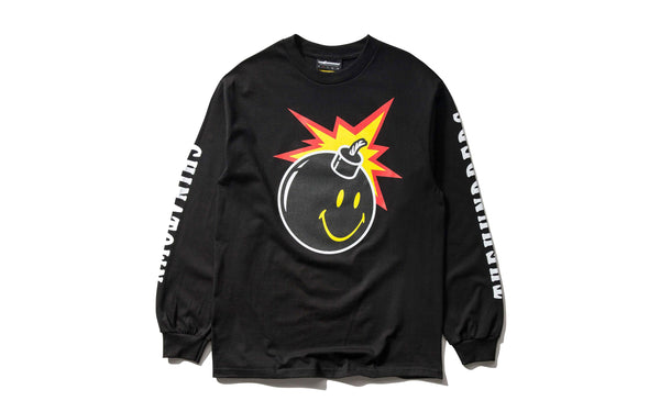 The Hundreds x Chinatown Market Smiley Adam LS (L18W201042-BLK)