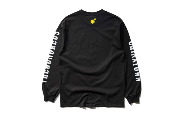 The Hundreds x Chinatown Market Smiley Adam LS Tee (L18W201042-BLK)