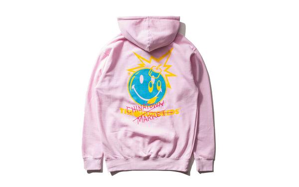 The Hundreds x Chinatown Market Crossout Adam Pullover (L18W202036-PNK)