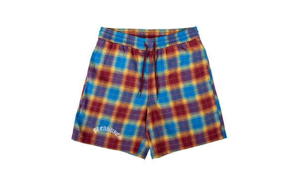 PLEASURES Shadow Plaid Shorts (P19S105003)