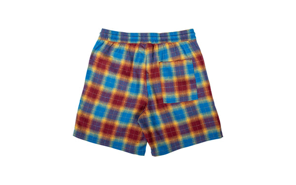 PLEASURES Shadow Plaid Shorts (P19S105003-RED)