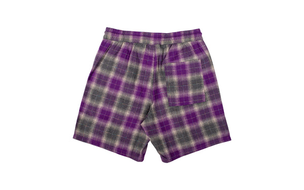 PLEASURES Shadow Plaid Shorts (P19S105003-PUR)