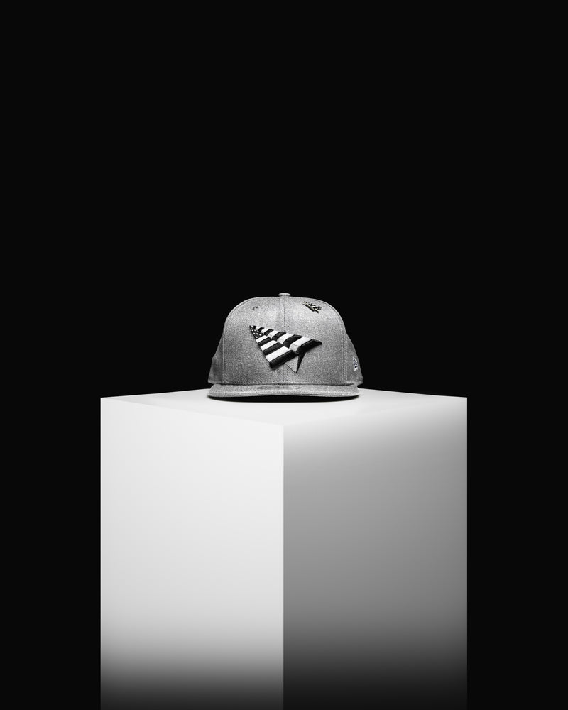 Paper Planes x New Era Old School Heather Grey Snapback Hat (0017H706-HGREY)