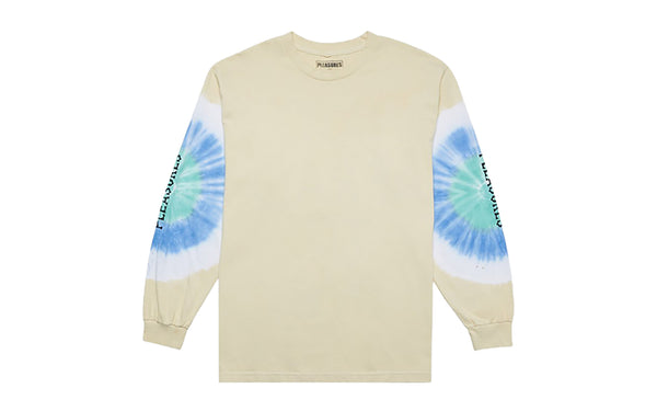PLEASURES NOT AFRAID TIE DYE LONG SLEEVE T-SHIRT (P19F101025)