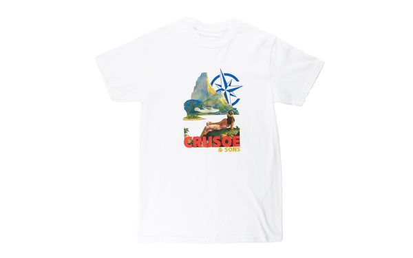 Crusoe & Sons Aloha T-Shirt (CS-FA19-02-WHT)