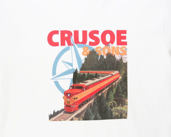 Crusoe & Sons Pacific Rail T-Shirt (CS-FA19-01-WHT)