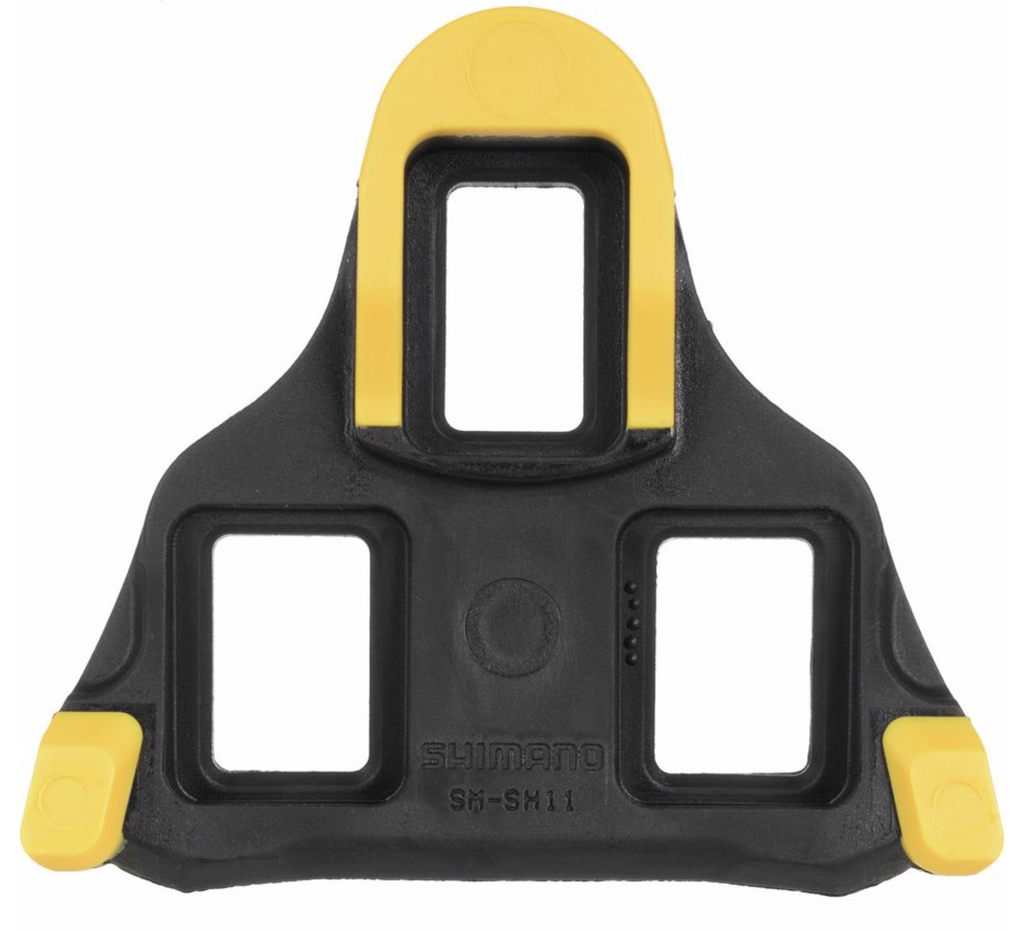 Self-Aligning Mode Shimano SPD-SL road bicycle cleats SH11 6D Yellow