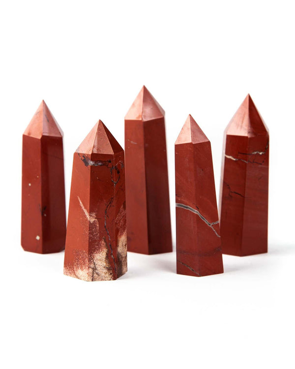 Red Jasper Pointed Crystal | Heal Root Chakra | protects from emotional manipulation - Life Gardening Tools LLC