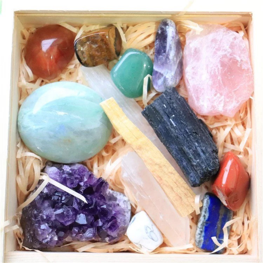14-Piece Healing Crystal Starter Set Kit - Life Gardening Tools LLC