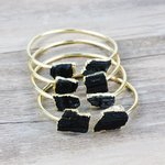 Handmade Tourmaline Gold Plated Copper Cuff wire wrapped bracelet - Life Gardening Tools LLC