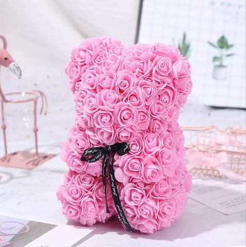 Pink Rose Teddy Bear - Life Gardening Tools LLC