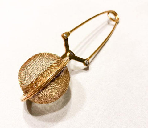 Gold Tea Infuser | Tea Ball | Loose Leaf Tea Infuser | Tea Strainer | Mesh Tea Ball | Tealovers - Life Gardening Tools LLC