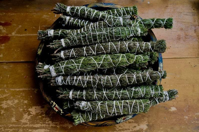 "Rosemary Smudge Stick - 9""L (Large) Cleansing and Protection - Life Gardening Tools LLC"