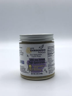 Raw Creamed Lavender Honey with 500 mg of Full Spectrum CBD - 6oz jar