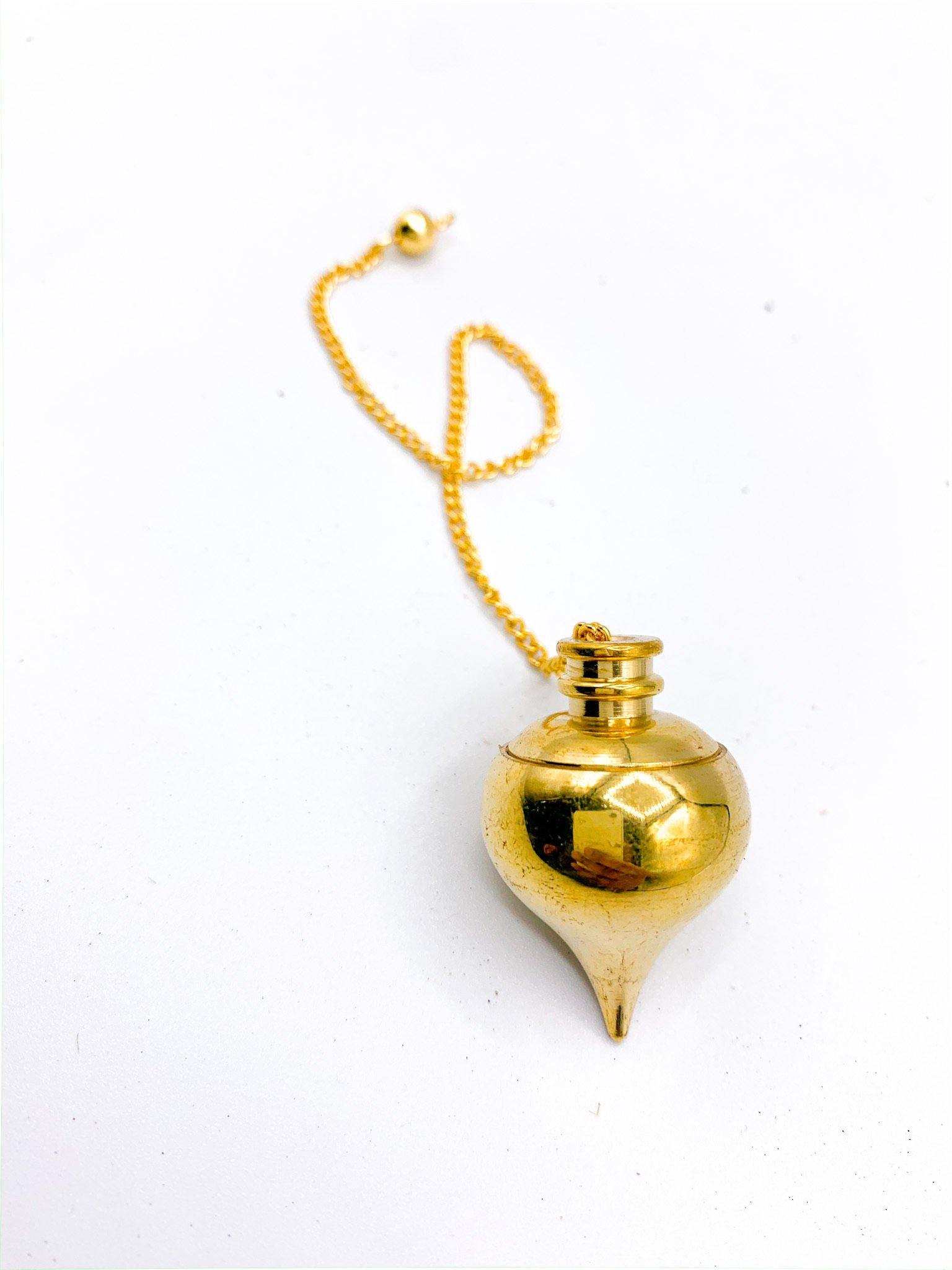 Brass Pendulum | Screwable Pendulum | Add-in Magical Oil for Divination - Life Gardening Tools LLC