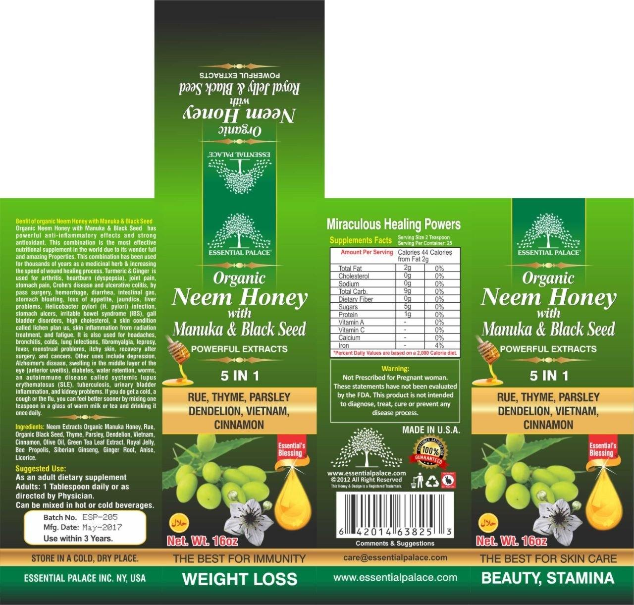 Organic Neem Honey with Manuka & Black Seed - Life Gardening Tools LLC