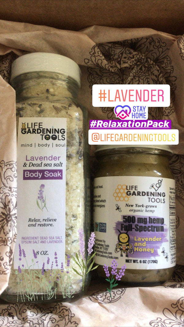 Lavender Sea Salt Relaxation Bundle - Life Gardening Tools LLC