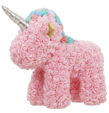 Large Pink Rose Handmade Artificial Flowers Unicorn
