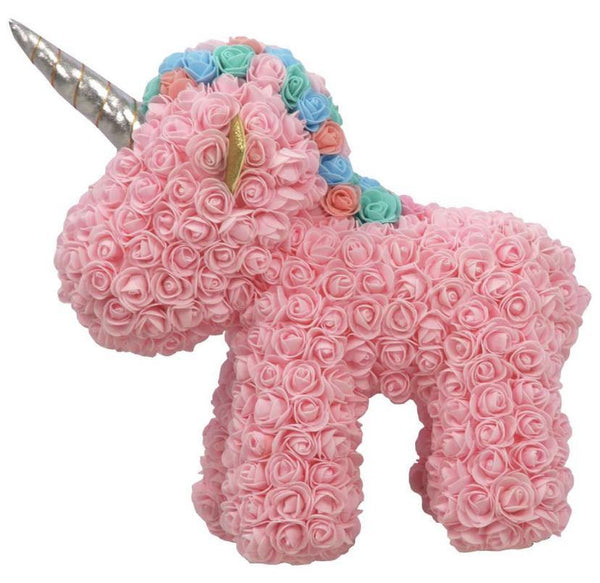 Large Pink Rose Handmade Artificial Flowers Unicorn - Life Gardening Tools LLC