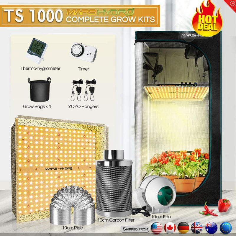1000W LED Grow Tent Kit with Carbon filter and fan - Life Gardening Tools LLC