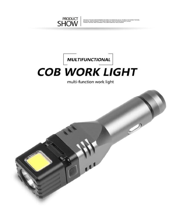 Charging LED Flashlight with Safety Hammer