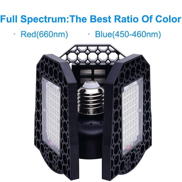 Foldable LED Plant Grow Light Bulb Red Blue 60W-80W Plants Succulents Vegetable Flower Grow Lamp Light Bulb