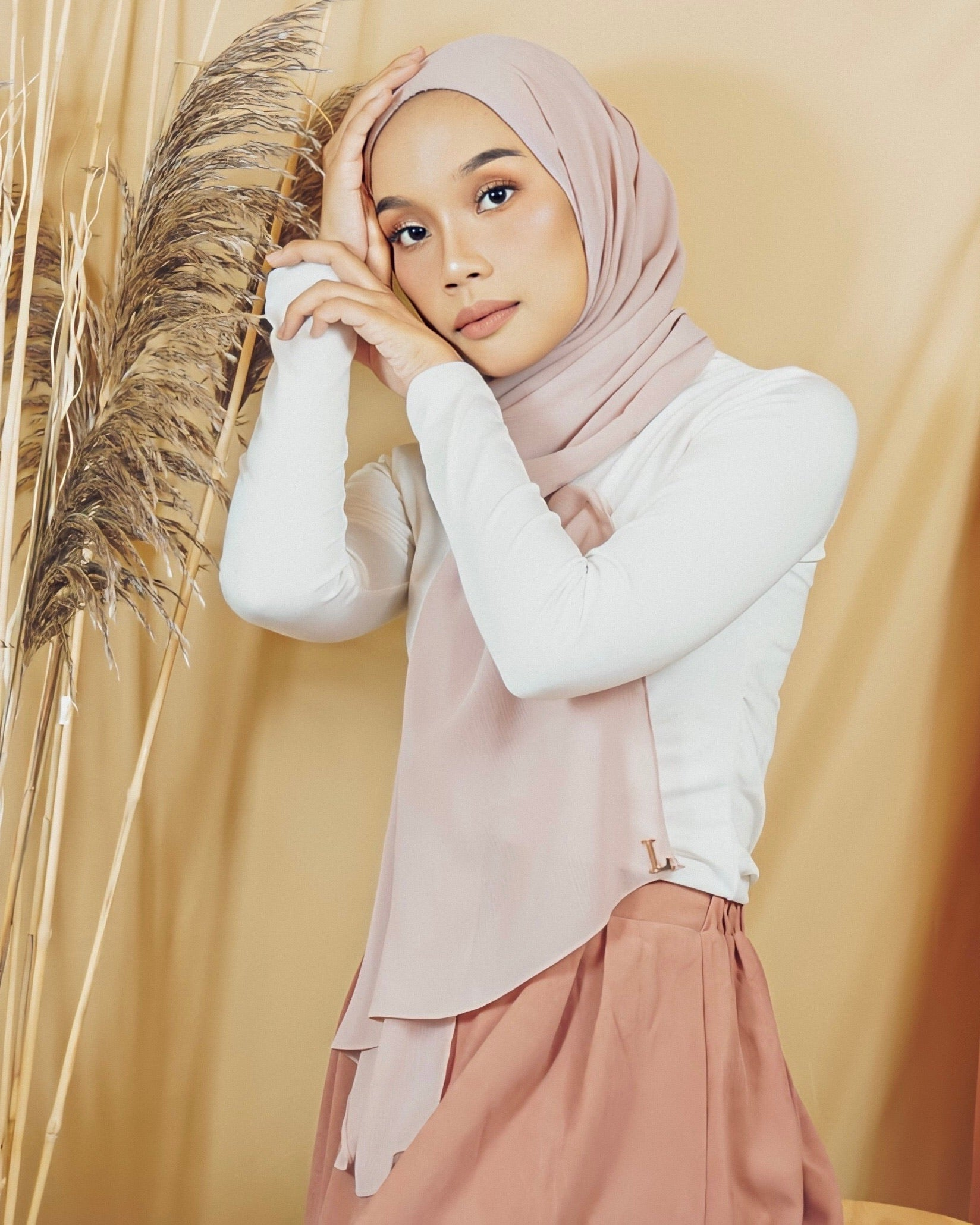 Selma Luxe Chiffon in Silver Pink - Defect